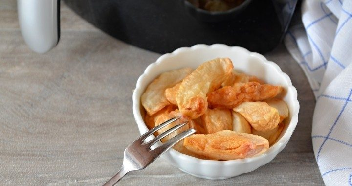 Pečená, sušená, grilovaná jablka - křížaly z horkovzdušné fritézy